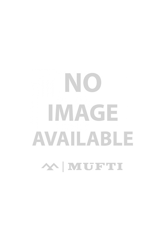 White Printed Tee with Mandarin Collar